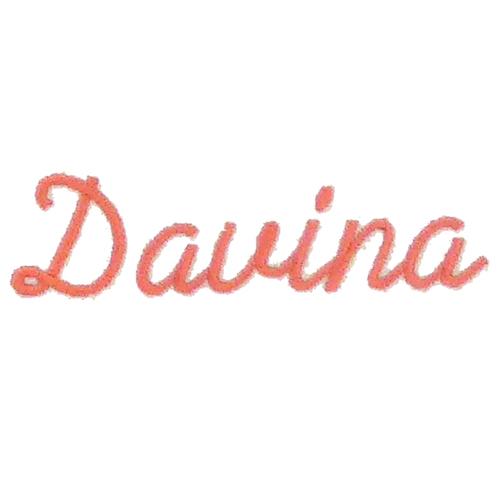 Ecriture de broderie style à la main - Davina