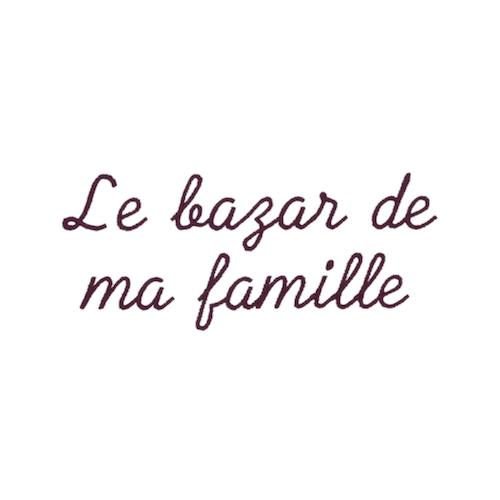 Ecriture de broderie style à la main - Bazar familiale
