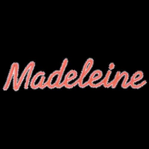 Ecriture de broderie style à la main - Madeleine
