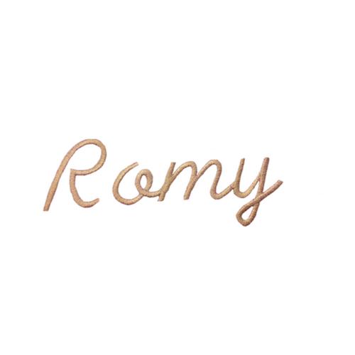 Ecriture de broderie style à la main - Romy