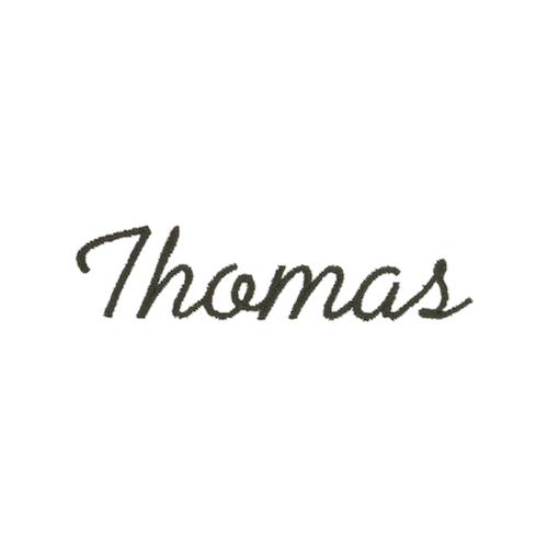 Ecriture de broderie style à la main - Thomas