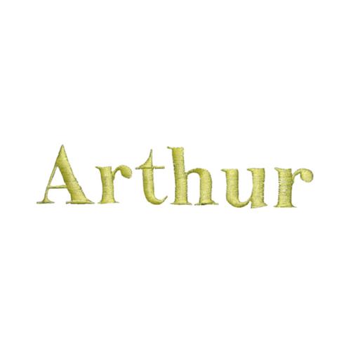 Typographie machine classique - Arthur