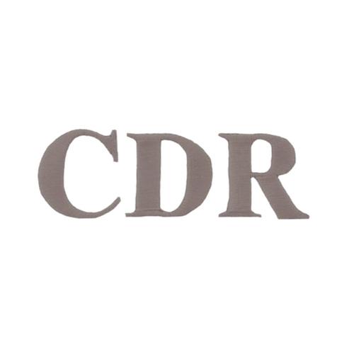 Typographie machine classique - Initiales CDR