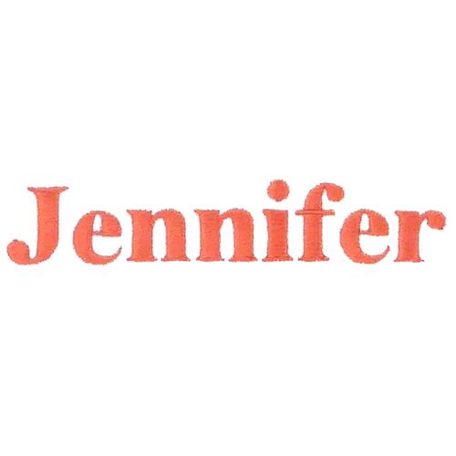 Typographie machine classique - Jennifer