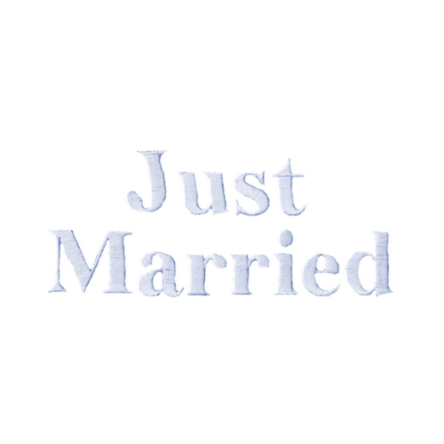 Typographie machine classique - Just married