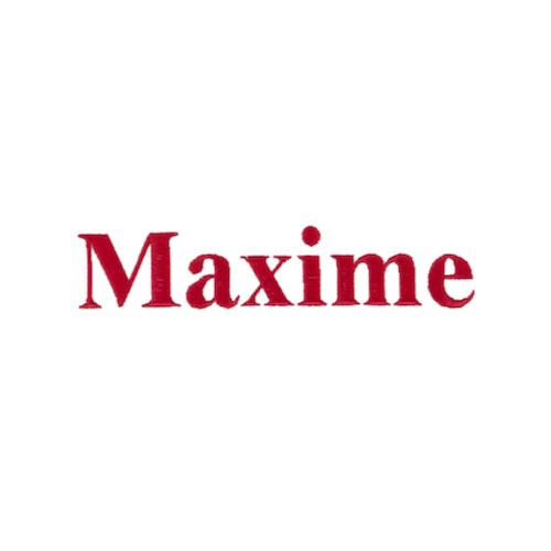 Typographie machine classique - Maxime