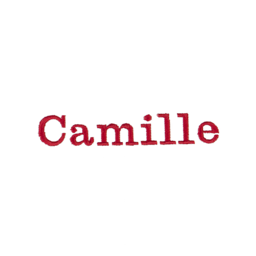Broderie personnalisée - Camille
