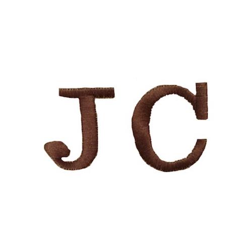 Broderie personnalisée - Initiales JC