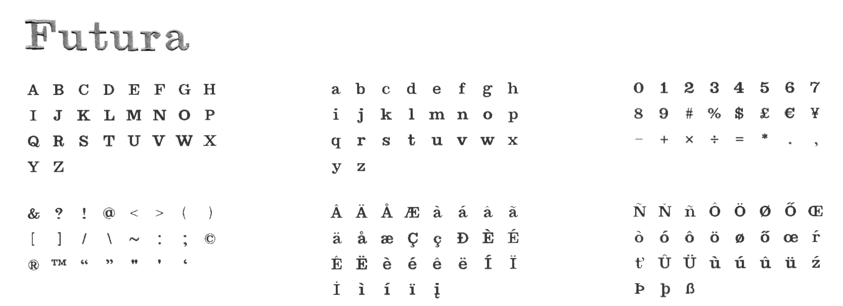 Broderie personnalisée - Typographie Futura