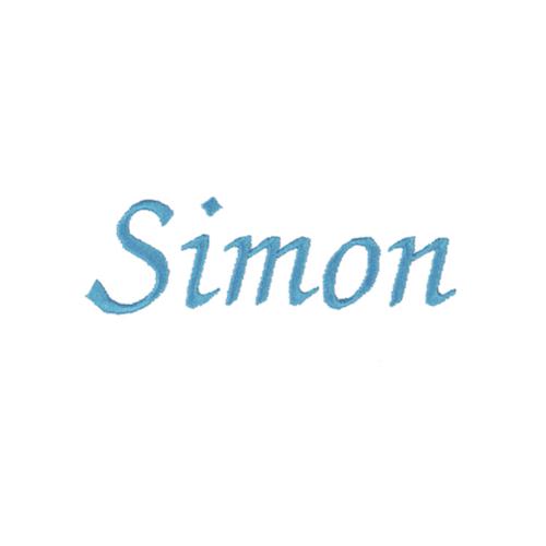Typographie moderne et élégante - Simon