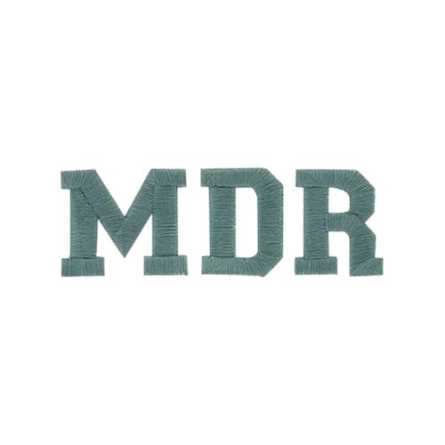 Broderie lettre scindée - Initiales MDR