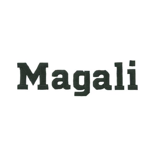 Broderie lettre scindée - Magali