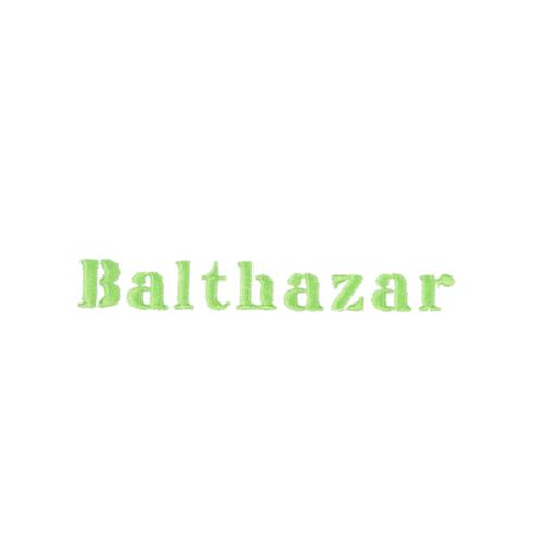 Broderie lettre scindée - Balthazar