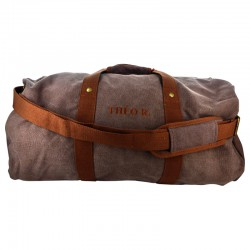 SAC DE WEEK-END PERSONNALISABLE MARRON